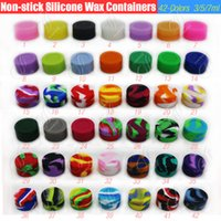 New Silicone Non stick Wax Containers Food grade 42 Colors 3...