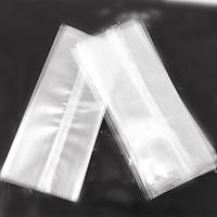 Nouveau style transparent en plastique dentelé de paquet de crème glacée sac de nourriture sac d'emballage ops popsicle pochette de cuisson paquet 3 tailles 100pcs / lot