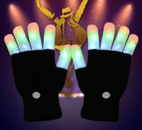 Nouveau 7 Modes Changement De Couleur Clignotant Led Gant Pour concert parti Halloween De Noël Doigt Clignotant Glowing Finger Light Glowing Gloves