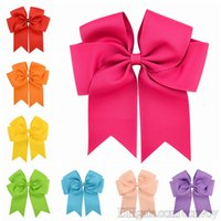 6inch Girls Kids Grosgrain Ribbon Big Bow Hair Clip For hair...