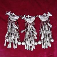 Spedizione completa 68 villaggi Miao e Dong Miao argento orecchini ciondolo accessori accessori da ricamo fatti a mano ciondolo squisito pesce