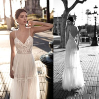 2018 Gali Karten Cheap Sexy Bohemian Lace Wedding Dresses Sp...
