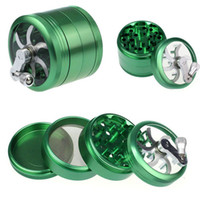 herb grinder with handle 4 Layers 55mm Mental Zinc Alloy Gri...