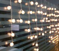 عيد الميلاد العام الجديد أفخم الكرة LED أضواء الستار سلسلة ضوء عيد ميلاد الحزب تأثيث شرفة AC110V-250V