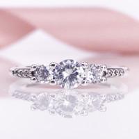 Nowy ARIVEL 2017 Jesienna kolekcja Autentyczne S925 Bajki Sparkle Ring Clear CZ Dopasuj Europejski Pandora Biżuteria 196242CZ Ring