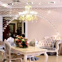 Novos 1m / String Crystals Beads String Curtain Janela DIY DIY Decor Decoração Casamento Cenário Festivo Decoração