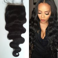 Body Wave Silk Base Closure with Baby Hair Indian Human Hair...