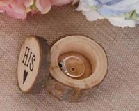 زوج واحد خاتم الزفاف مربع ريفي رث شيك صندوق خشبي خاتم الزفاف حاملها مربع التصوير الدعائم جولة الإبداعية زفاف ديكور WT038