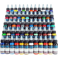 New Tattoo Ink Fusion 60 Colors Set 1 oz 30ml Bottle Tattoo ...