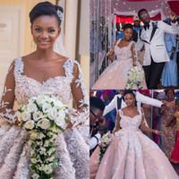 Розовые свадебные платья по индивидуальному заказу с белыми аппликациями из бисера и длинными рукавами Свадебные платья Красивые свадебные платья Назад Молния Новый