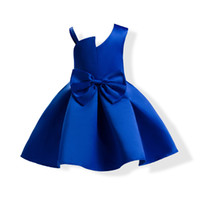 Neonate Principessa Abiti Bretelle Senza spalline Per bambini Ball Gown Estate Autunno Big Bow Bambini Party Dress Kid Abbigliamento C2248