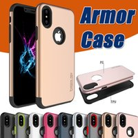 Mars Armor Case 2 en 1 Hybrid TPU + PC Layer Ultra Thin Slim Rugged A prueba de golpes Protección anti-caída Cubierta dura para iPhone X 8 7 Plus 6 6S