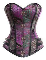 sexy women Black steampunk corset overbust gothic clothing korsett body shaper corselet corpete espartilho