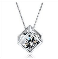 925 silver love cube necklace eight arrows eight heart reall...