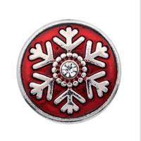50 шт. Рождественская кнопка Snap ювелирные изделия Снежинка 18 мм защелки кнопки подвески для DIY Snap ювелирные изделия браслет