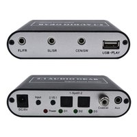 Freeshipping Digital 5.1 Decode audio Dolby DTS / AC-3 optique à 5,1 canaux RCA Analog Sound Decoder STEREO