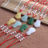 Good A+ + Hot Pendant Jade Buddha Necklace Glass Ornament Red...