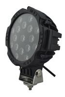 Vendita calda 7 pollici 51 W Car Round LED lavoro luce 12 V ad alta potenza 17 X 3 W Spot Per 4x4 Offroad Truck Tractor Driving Fog Lamp