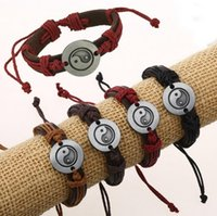 Brand new Bagua diagram accessories leather woven bracelet r...