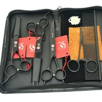 7.0Inch Meisha mancino Professional Dog Dog Grooming Scissors Set mano sinistra Dog Hair Cutting Thinning Curved Shears, HB0080