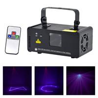 AuCd tragbare Mini-IR-Fernbedienung 8 CH DMX Lila 150mW Laserscanner Bühnenbeleuchtung PRO DJ Party LED Show Projektor-Lichter DM-V150