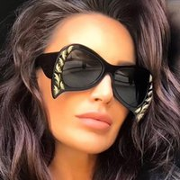 ALOZ MICC Shaped Sunglasses Women Brand 2018 Big Frame Sun G...