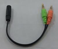 New Universal 3.5mm 2 in 1 adattatore per cavo audio per auricolari femmina a doppio cavo di prolunga cavo maschio splitter per telefono PC MP3 MP4