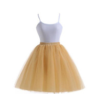 c456cc492aecf Champagne Tulle Skirts For Women Knee Length Ruffles Tutu Skirts Cheap  Party Skirts Plus Size Custom Made Prom Dresses