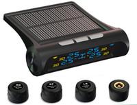 CarBest تعمل بالطاقة الشمسية نظام مراقبة ضغط الإطارات TPMS الموثوق بها نظام إنذار السيارات مع 4 مجسات خارجية (4 مجسات)