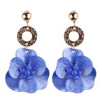 Cute Resin Flowers Statement Earrings Multi Color Fashion We...