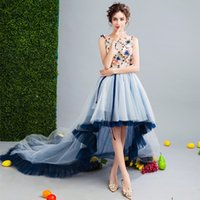 SSYFashion New Sweet Lace Flower Prom Dress Sleeveless Short...