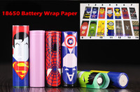 18650 Papier d'emballage de batterie avec motifs 34Style - Batteries Shrink Sticker Wrapper Sheeve pour LG HG2 Samsung 25R 30Q Sony VTC6 VTC5