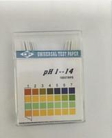 50 pacchi / lotto Test carta alcalina pH Strisce Indicatore Test Kit Litmus per il livello del corpo Urina Saliva PH1-14 (100Pcs / Pack)