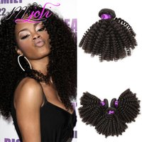 Peruvian human kinky curly hair unprocessed virgin hair exte...