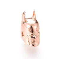 Bracciale Spacer fascino Batman Beads CZ Zirconia 15,4 * perle braccialetto di 10,3 millimetri connettore ICYS010 Bead Design del Gioiello nuovo all'ingrosso Cubic