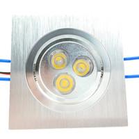 Enjuague la plaza de montaje de techo luces LED 6W del punto de 3W 110V 220V 230V empotrado regulable Lamparas de sala de estar CE ROSH supermercado DHL