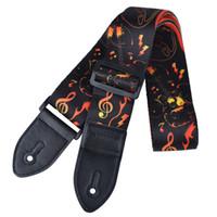 Nuova cinghia di chitarra in poliestere morbido di alta qualità per chitarre acustiche regolabile colorfull