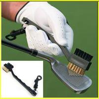 Golf-Reinigungsbürste-Stichwort-umschaltbarer runder Kopf bürstet Spezialisten mit doppelseitigem bequemem und praktischem einfach zu säubern 2py H