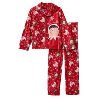 Большой мальчик красная одежда набор детей осень осень зима рождественские пижамы комплекты детей рождественские спящие одежда 4-10T