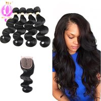 Brazilian Virgin Human Hair Body Wave 4 Bundles Deal Unproce...