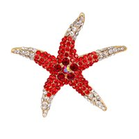 Free shipping wholesale Crystal Rhinestones Starfish Brooch ...