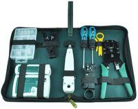 9 PC를 전문 네트워크 컴퓨터 유지 보수 수리 도구 키트 크로스 일자 드라이버 압착 펜치 등 T01015