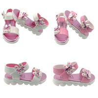 Girls Sandals Bowknot YXKEKE Brand PU Leather Round Toe Kids...