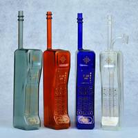 "11.5 ""forma do telefone móvel bongos de vidro colorido cachimbos de água de fumar reciclar plataformas de petróleo dab tigela beaker bubbler perc 14mm hookahs"