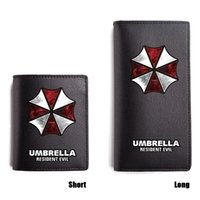 Resident Evil Long Purse Black Short PU Wallet Men Honeycomb...