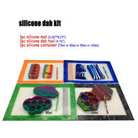 """مجموعة أدوات سيليكون Dab مع 11.81 """"* 8.27"""" سيليكون الشمع حصيرة حصيرة و Dabber 50 75ML 85ML 110ML حاوية زيت السيليكون"""