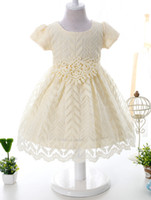 New Girls Princess Dress Children Lace Big Bow Short Sleeve ...