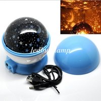 Hot USB Laser LED Projector Romantic Rotary Sky Stars Cosmos...