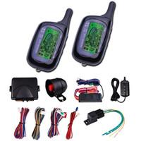 CarBest Araç Güvenlik Çağrı Araba Alarmı 2 Yönlü LCD Sensörü Uzaktan Motor Çalıştırma Sistemi Seti Otomatik | Araba Hırsız Alarm Sistemi