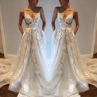 2018 Beach Bohemian Sexy Backless Wedding Dresses Spaghetti ...